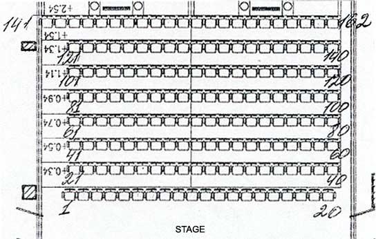 План зрительного зала.